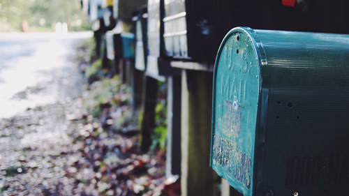 Mailbox - sign up for FL weekly email newsletter